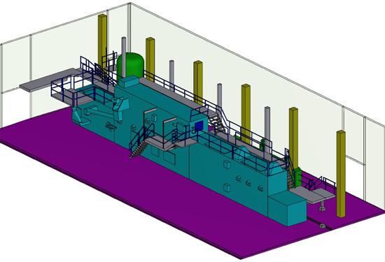 3D CAD model van een productielijn op basis van 3D laserscanning